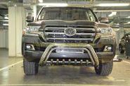 Защита переднего бампера  76/42мм  для Toyota Land Cruiser 200 2015 -