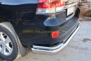 Защита заднего бампера 76х42 мм для Toyota Land Cruiser 200 2015 -