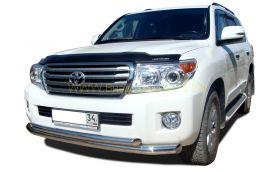 Защита переднего бампера 76/60 мм для Toyota Land Cruiser 200 2012