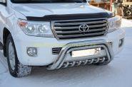 Защита переднего бампера 76/42 мм для Toyota Land Cruiser 200 2012