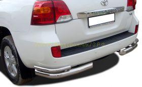 Защита заднего бампера 76/53 мм для Toyota Land Cruiser 200 2012