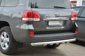 Защита заднего бампера 76 мм для Toyota Land Cruiser 200 2012