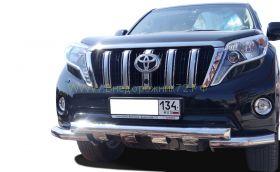 Защита переднего бампера 76 мм для Toyota Land Cruiser Prado 150 2013 -