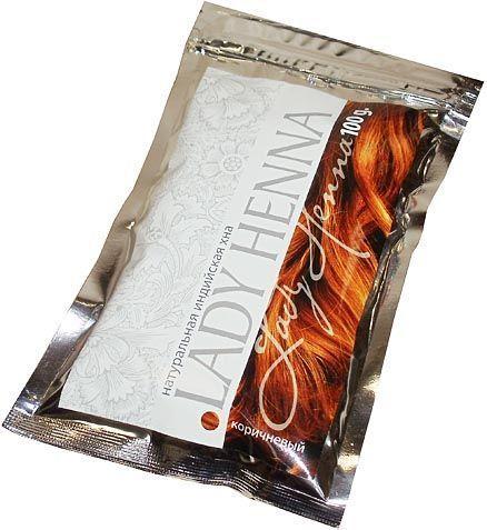 Хна натуральная коричневая | 100 г | Lady Henna