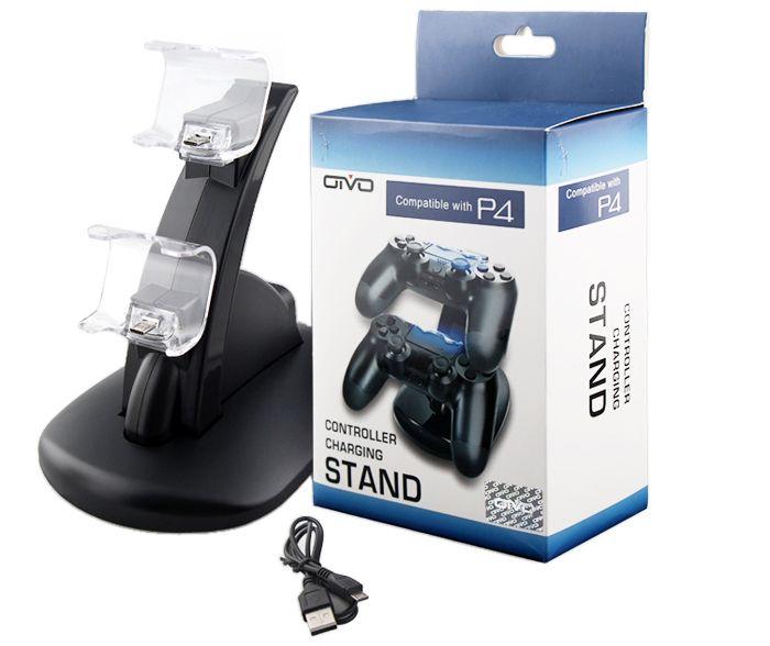 Зарядная станция для 2-х контроллеров Dualshock 4 - Oivo (PS4)
