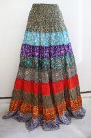 Длинная летняя юбка с разноцветными воланами (ярусами), купить в Санкт-Петербурге. Интернет магазин