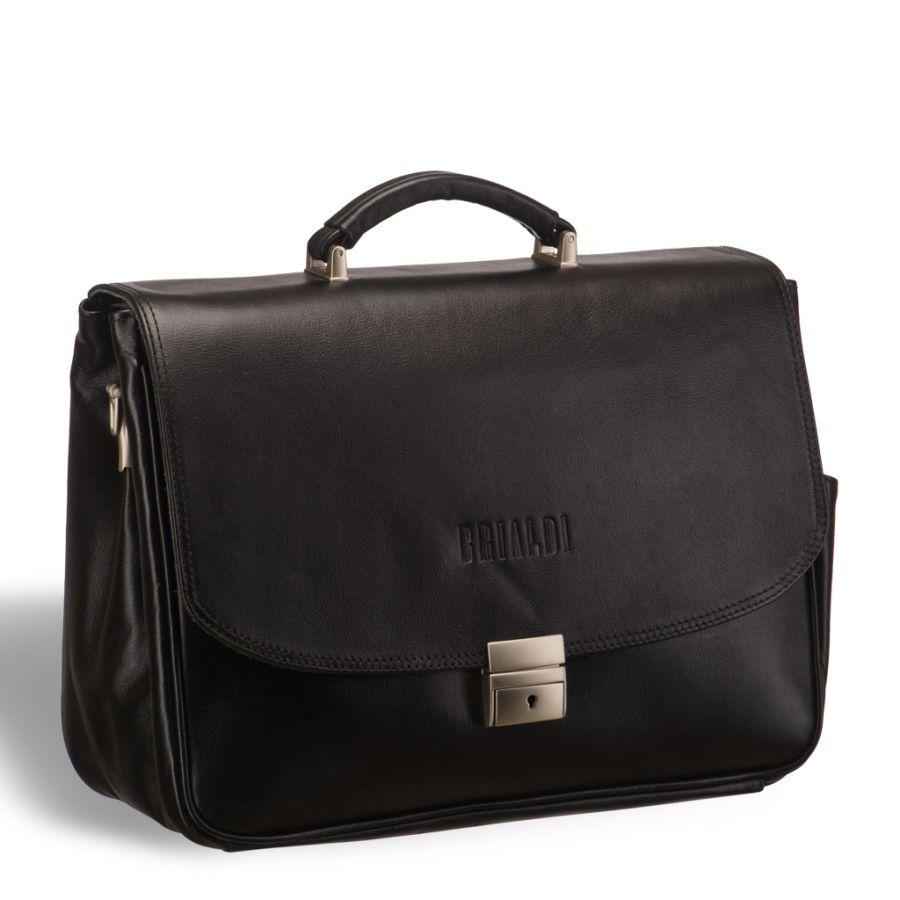 Вместительный деловой портфель BRIALDI Morton (Мортон) black