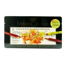 """Карандаши цв.12цв.Faber-Castell """"Polychromos"""" профес.110012"""