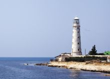 Tarkhankut lighthouse. Crimea