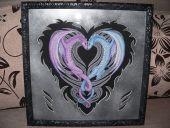 Схема для вышивки крестом Сердце дракона. Отшив.