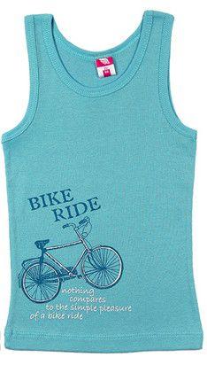 Бирюзовая майка для мальчика BikeRide