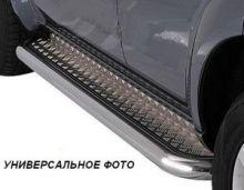Боковые подножки Tehnotec, с рифленым листом, труба нерж. сталь ф 60мм