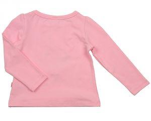 Лонгслив для девочки розового цвета 1133