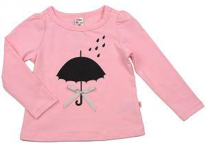 Розовый лонгслив для девочки Мини Макси