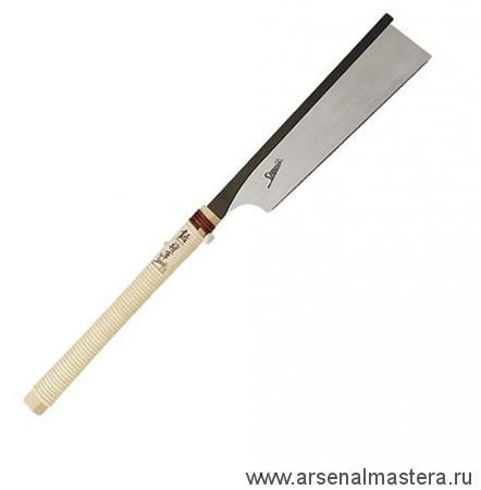 Японская обушковая пила Shogun Dozuki Saw, 250мм, 24tpi, прямая деревянная рукоять М00009203