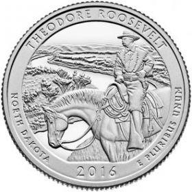 Национальный парк Теодора Рузвельта(Северная Дакота)25 центов США 2016 Двор S