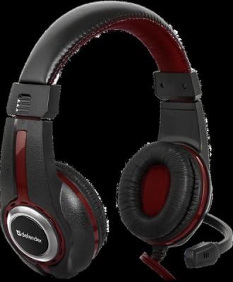 Игровая гарнитура Warhead G-185 черный + красный, кабель 2 м