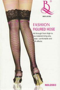 Чулки с розовой шнуровкой