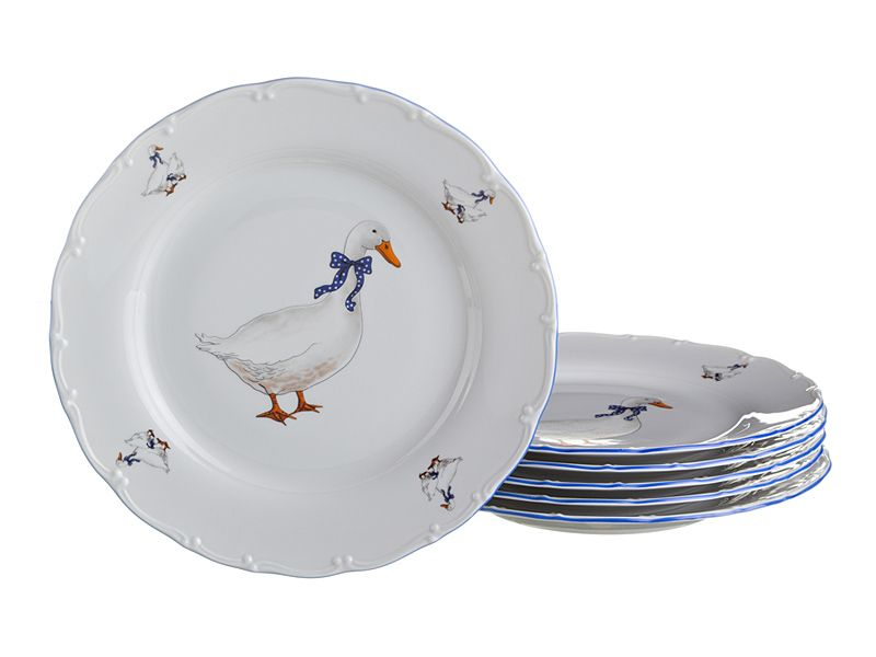 """Набор тарелок """"Гуси"""", 6 шт., 19 см"""