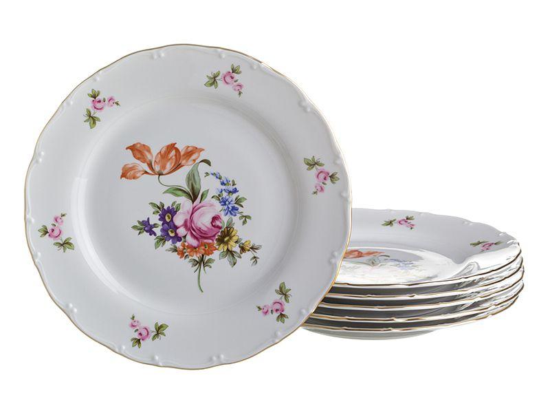 "Набор тарелок ""Майсеновский Букет"", 6 шт., 25 см"