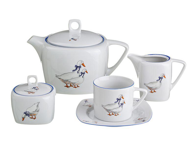 "Чайный сервиз на 6 персон ""Тетра Гуси"", 15 пр., 1500/250/250/250 мл"