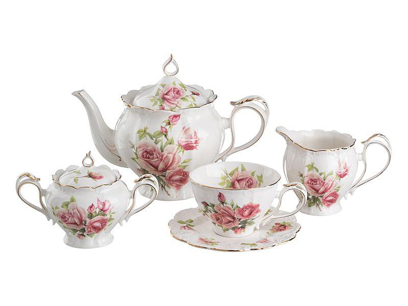 """Чайный сервиз на 6 персон """"Жаклин"""", 15 пр., 1000/300/300/280 мл"""