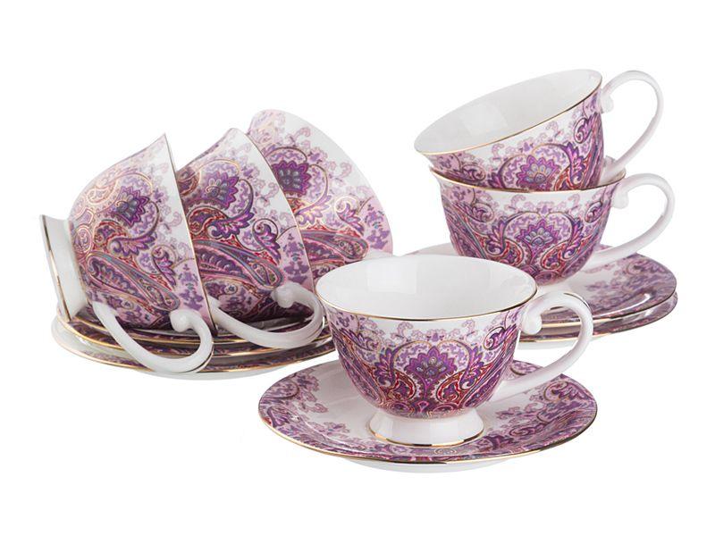 Чайный набор на 6 персон, 12 пр., 200 мл