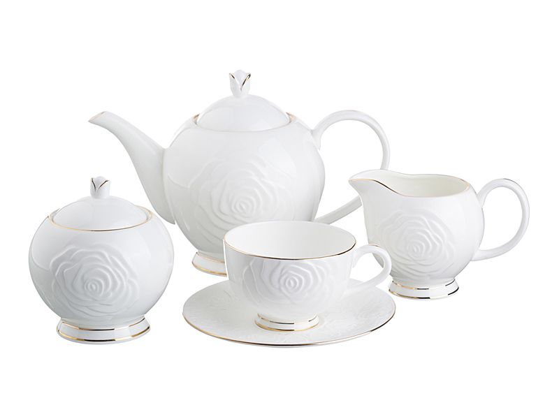 "Чайный сервиз на 6 персон ""Blanco"", 15 пр., 1000/250 мл"