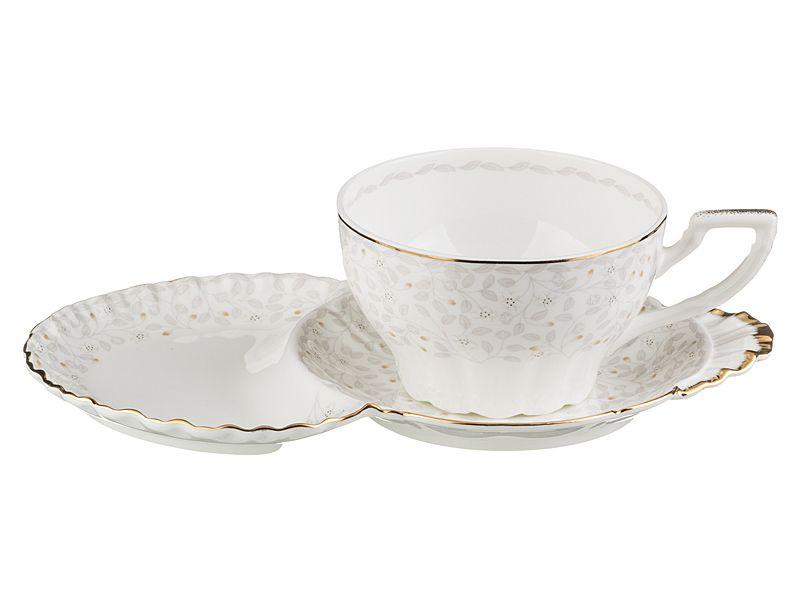 """Чайный набор на 1 персону """"Вивьен"""", 2 пр., 400 мл"""