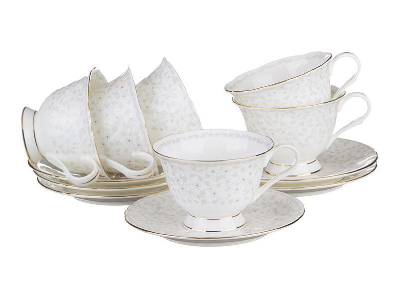 "Чайный набор на 6 персон ""Вивьен"", 12 пр., 250 мл"