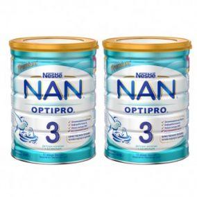2 шт. Детское молочко NAN 3 (с 12 мес.) 800 гр