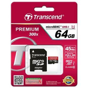 Карта памяти Transcend 64 Gb microSDXC 10class до 45Mb/s