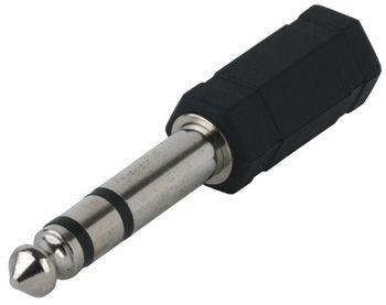 (rdtv) Переходник джек 6,3 мм - аудио гнездо 3,5 мм стерео JETT (303-335)