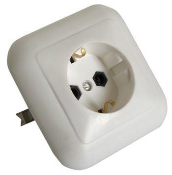 Розетка РС16-102 1 гн. (з) скрытой проводки