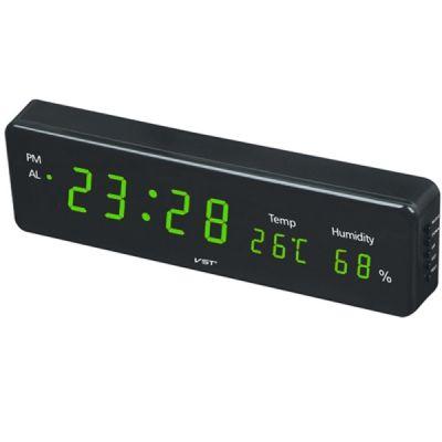 Часы эл. VST805S-4 зел.цифры