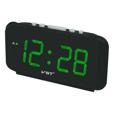 Часы эл. VST806T-2 зел.цифры говорящие