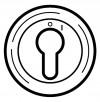 Накладка выкл. с ключом 2-х позиц. Legrand Celiane титан(арт.68309)