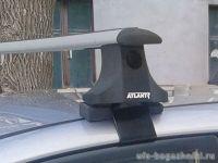 Багажник на крышу на Mitsubishi L200 2007-15, (Атлант, Россия), крыловидные дуги