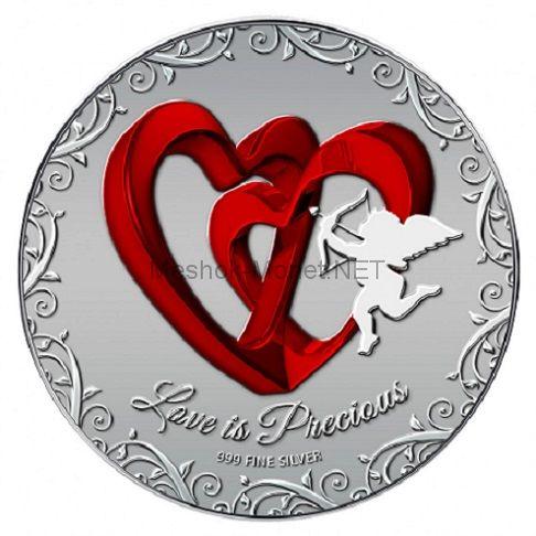 2 доллара островного государства Ниуэ 2013 года Любовь драгоценна - Красные сердца