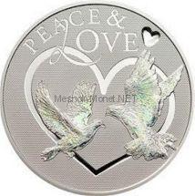 5 долларов Токелау 2012 года Мир и Любовь