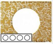 Рамка Legrand Celiane 4 поста фарфор Золотая Феерия (арт.069334)
