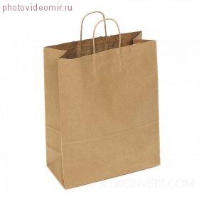 Крафт-пакет 15х13 см бурого цвета