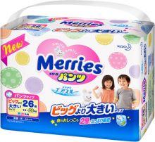 Японские подгузники-трусики Merries XXL 26 15-28кг