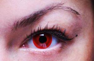 Линза красный глаз