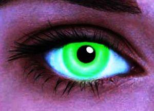 Линзы неоновые, зеленые (2 шт)