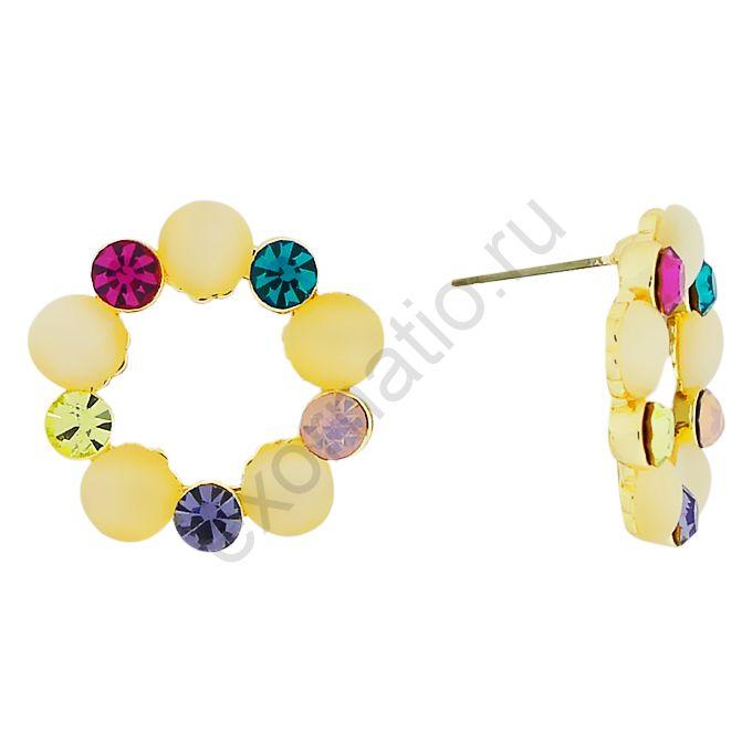 Серьги Tutti Frutti 33021-26629. Серьги под золото