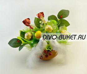"""Букет с конфетами №648 """"Поздравление к свадьбе"""""""