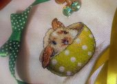 Схема для вышивки крестом Зайка в чашке. Отшив.