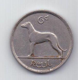 6 пенсов 1934 г. AUNC. редкий год. Ирландия (Великобритания)