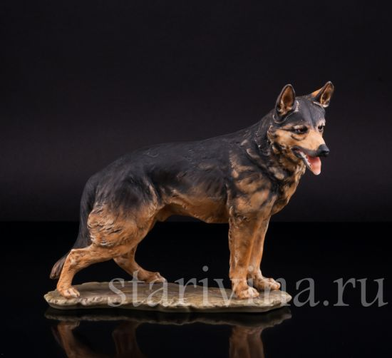 Фарфоровая статуэтка собаки Овчарка производства Kaiser, Германия